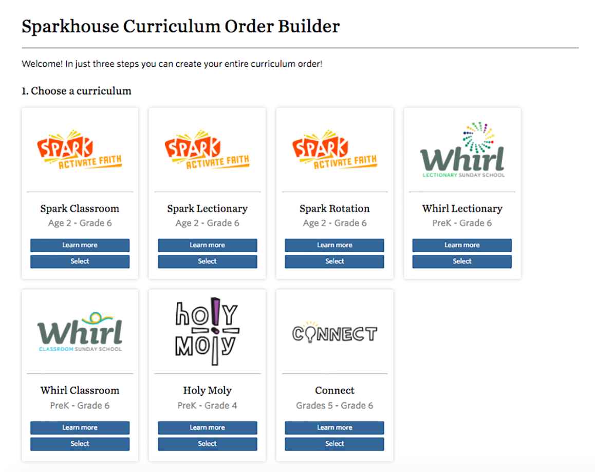 Curriculum Order Builder